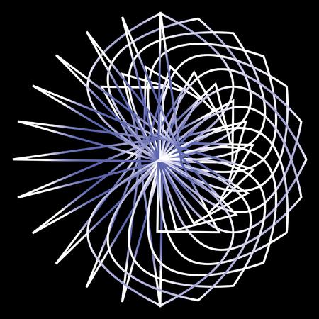Geometric pattern symmetry symbol fractale pentogramm
