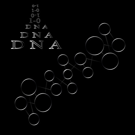 Atomic compound of molecules and chemical compounds DNA Illustration