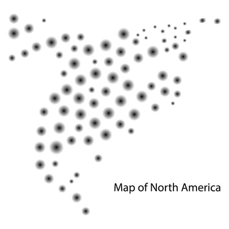 Map Of North America Canada Costa Rica Cuba Mexico USA Trinidad ...
