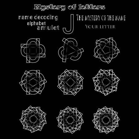 단어의 비밀, 룬 문자 점성술 개인 부적, cabbalism, 수비학 esoterics