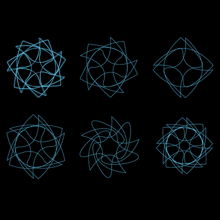 Beautiful and symmetrical geometric pattern, fractal, pentagram icon