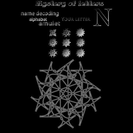 Secret of words, runes astrology personal amulet, cabbalism, numerology esoterics Zdjęcie Seryjne - 85412776