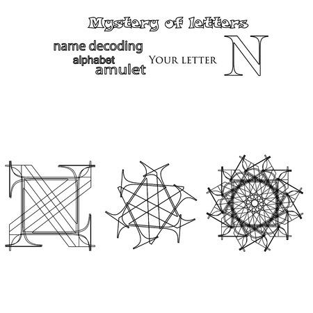Secret of words, runes astrology personal amulet, cabbalism, numerology esoterics Zdjęcie Seryjne - 85412782