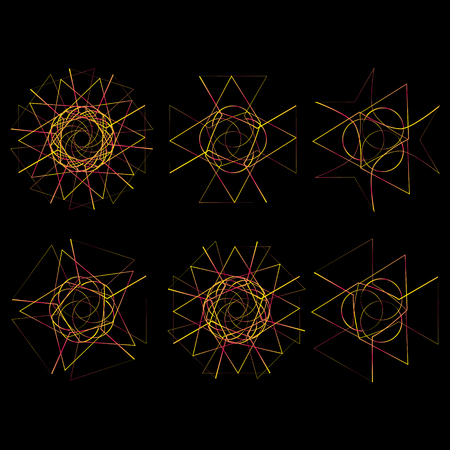 round: Festive geometric pattern for gifts and holidays, for packaging, clothing, goods and logos