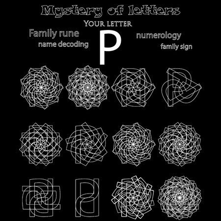Secret of words, runes astrology personal amulet, cabbalism, numerology esoteric.