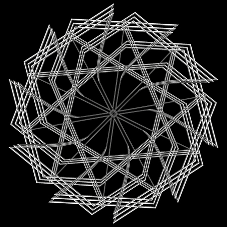 Holiday patterns of stars of snowflakes and flowers for gifts geometric pentagram. Illustration