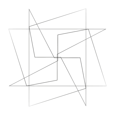 Geometric pattern symbols, linear Illustration. Vectores