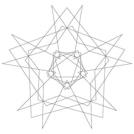 Geometric patterns etudes pentograms of design and interiors