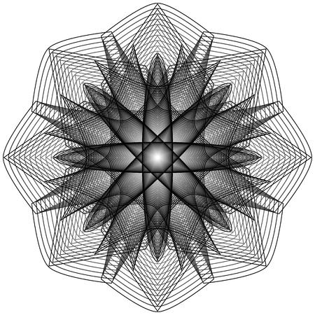 Símbolos de patrón geométrico fractale pentagrama astrología sello símbolo de etiqueta amuleto runas