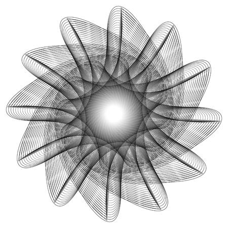 Geometryczny wzór symbole fractale pentagram astrologia znaczek etykieta symbol amulet runy