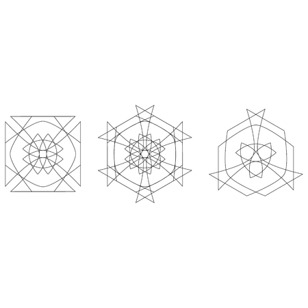 Holiday patterns of stars and flowers for gifts geometric pentagram Stockfoto - 127420898
