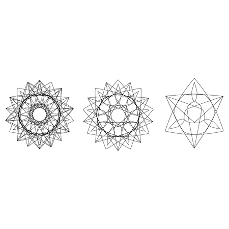 Holiday patterns of stars and flowers for gifts geometric pentagram Фото со стока - 127420905