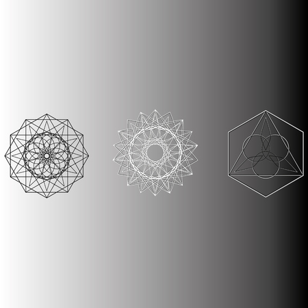 Geometry minimalistic artwork poster with simple shape and figure. Abstract vector pattern design in Scandinavian style for web banner, business presentation, branding package, fabric print, wallpaper Фото со стока - 127190841