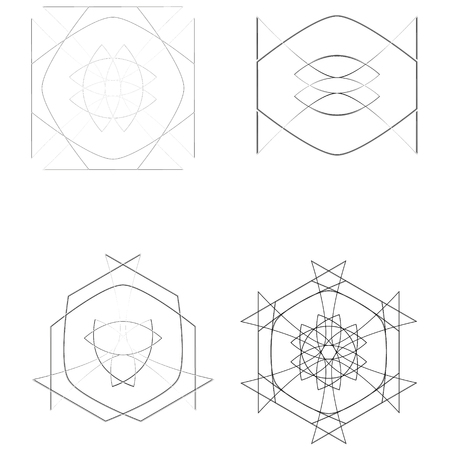 Geometry minimalistic artwork poster with simple shape and figure. Abstract vector pattern design in Scandinavian style for web banner, business presentation, branding package, fabric print, wallpaper Stockfoto - 127190848