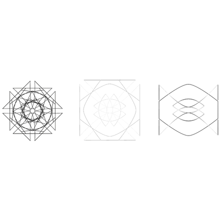 Geometry minimalistic artwork poster with simple shape and figure. Abstract vector pattern design in Scandinavian style for web banner, business presentation, branding package, fabric print, wallpaper Stockfoto - 127141918