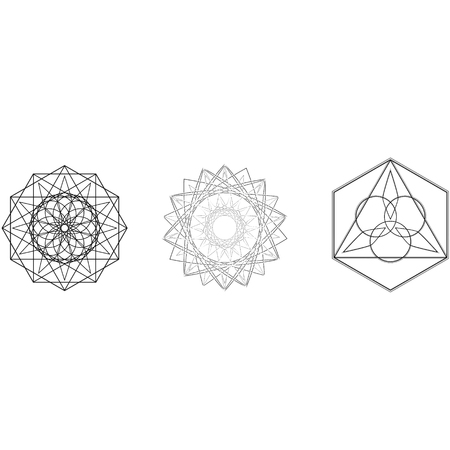 Geometry minimalistic artwork poster with simple shape and figure. Abstract vector pattern design in Scandinavian style for web banner, business presentation, branding package, fabric print, wallpaper Фото со стока - 127141926