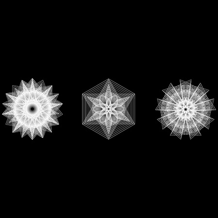 Holiday patterns of stars and flowers for gifts geometric pentagram Фото со стока - 126946846