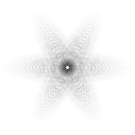 Symboles de motif géométrique fractale pentagramme astrologie timbre étiquette symbole amulette runes Vecteurs