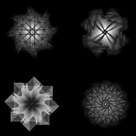 Sacred geometry signs. Set of symbols and elements. Alchemy, religion Illustration