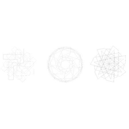 A stylish geometric pattern for the fashion industry crystal