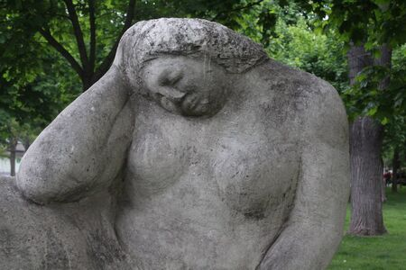 Beautiful statues in the park