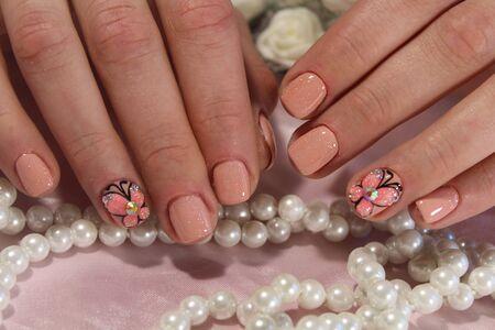 Beautiful manicure design for cute girls 2017
