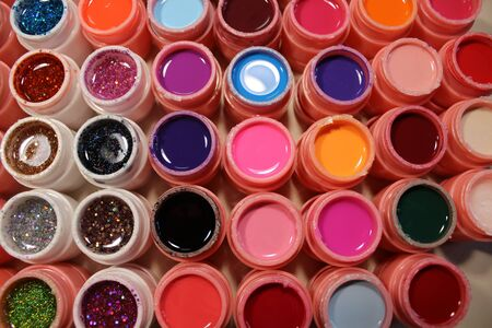 Bright colors for nails, many gel varnish