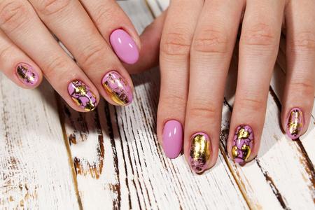 Youth manicure design best nails, gel varnish 版權商用圖片