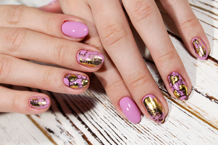 Womens hands with a stylish manicure. Best