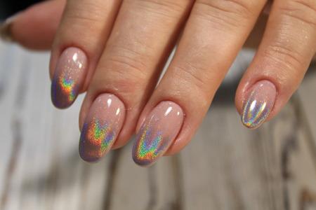 Manicured nails Nail Polish art design. Nail Polish. Beauty hands. Reklamní fotografie