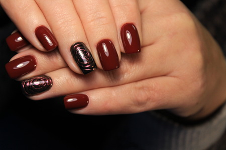 The refined beautiful female fingers