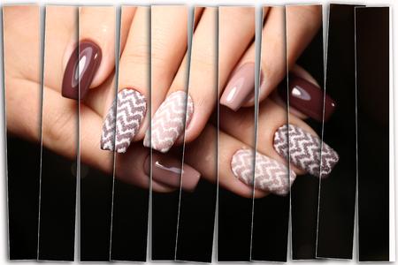 Youth manicure design best nails, gel varnish Imagens