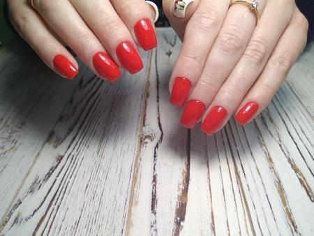 Fashion nails manicure on beautiful female hands Reklamní fotografie - 121502330
