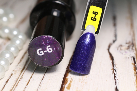palette of gradient tips for nails. Nail palette of different designs and gel polishes. Imagens