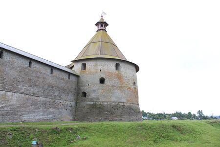 Old prison ruins, a city in St. Petersburg, Schlüsselburg. 版權商用圖片