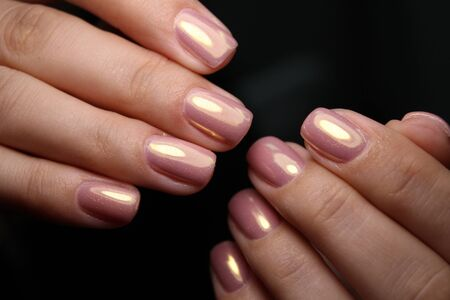 manicure with long nails on a trendy