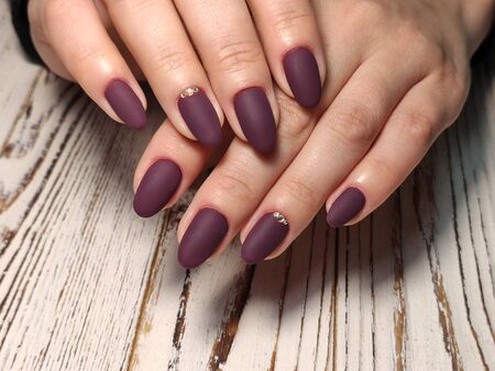 Amazing natural nails. Women's hands with clean manicure. Reklamní fotografie - 133067176
