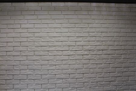 Vintage white wash brick wall texture for design. Panoramic background for your text or image. Imagens