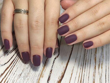 Youth manicure design, beautiful female hands Stok Fotoğraf - 134587755