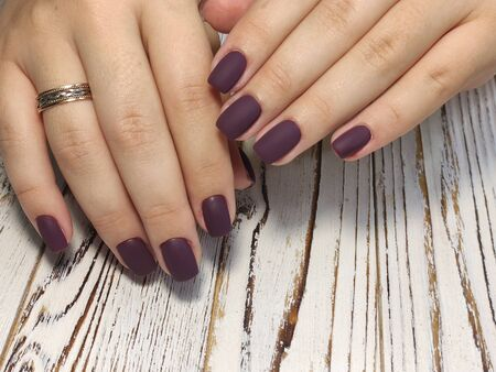 Beautiful Female Hands. Beautiful hand with perfect nail 2019 Stok Fotoğraf - 134587765