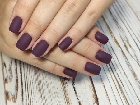 Beautiful Female Hands. Beautiful hand with perfect nail 2019 Stok Fotoğraf - 134587756