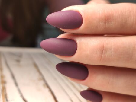 Beautiful Female Hands. Beautiful hand with perfect nail 2019 Stok Fotoğraf - 134587762