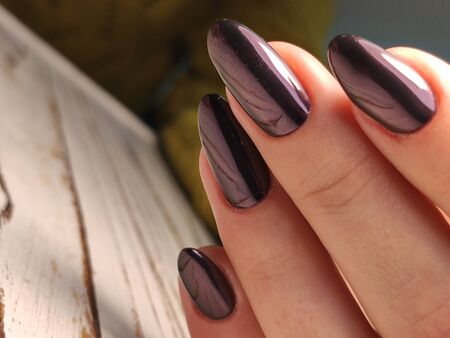 Beautiful Female Hands. Beautiful hand with perfect nail 2019 Stok Fotoğraf - 134587782