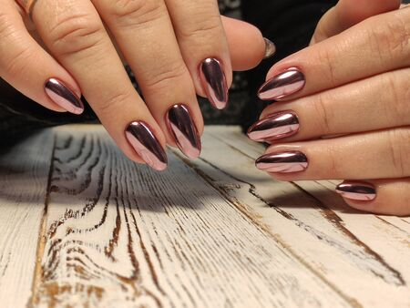 Beautiful Female Hands. Beautiful hand with perfect nail 2019 Stok Fotoğraf - 134587786