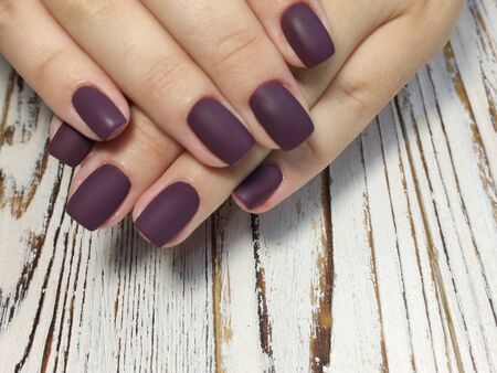 Beautiful Female Hands. Beautiful hand with perfect nail 2019 Stok Fotoğraf - 134587788
