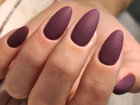 Beautiful Female Hands. Beautiful hand with perfect nail 2019 Stok Fotoğraf - 134587817