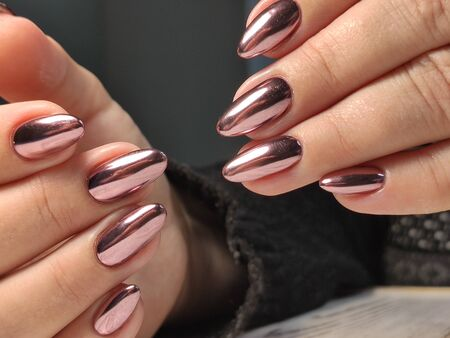 Beautiful Female Hands. Beautiful hand with perfect nail 2019 Stok Fotoğraf - 134587837