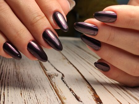 Beautiful Female Hands. Beautiful hand with perfect nail 2019 Stok Fotoğraf - 134587888