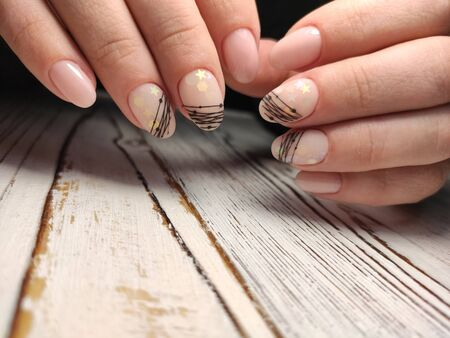 Beautiful Female Hands. Beautiful hand with perfect nail 2019 Stok Fotoğraf - 134587908