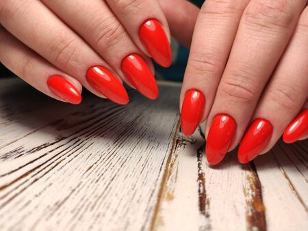 Beautiful Female Hands. Beautiful hand with perfect nail 2019 Stok Fotoğraf - 134587911
